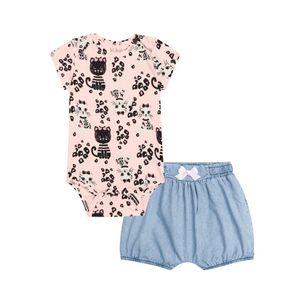 Conjunto-infantil-Kukie-body-gatinha-shorts-jeans-PaGG-29819-