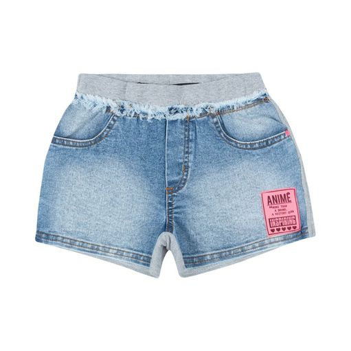 Shorts-infantil-Anime-moletom-fashionize-frente-jeans-8a16-N0485