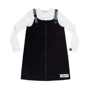 Jardineira-infantil-Anime-salopete-ziper-blusa-canelada-8a16-N0578-