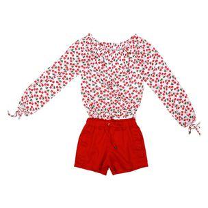 Conjunto-infantil-Precoce-ciganinha-cerejas-shorts-vermelho-10a16-LCJ2138
