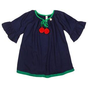 Vestido-infantil-Precoce-manga-babado-cordao-pontas-2a8-MVT2031-