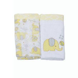Fralda-Loupiot-Classic-elefante-Com-2-Unidades-5351-amarelo-