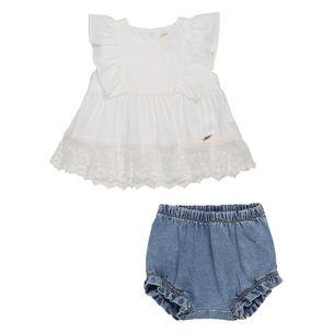 Conjunto-de-bebe-Anime-Bata-Rendada-Shorts-Jeans-MaGG-L1464-