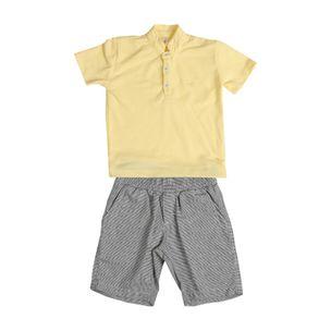 Conjunto-de-bebe-Precoce-bermuda-listrada-polo-botoes-MaGG-BCJ2349
