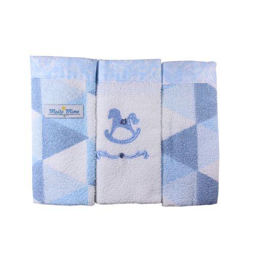 Toalha-De-Boca-Muito-Mimo-Cavalinho-Com-3-Unidades-5744-Azul