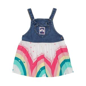 Vestido-de-bebe-Anime-jeans-arco-iris-Ma1-L1418-