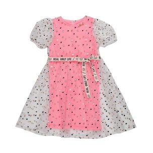 Vestido-infantil-Anime-tule-poa-colorido-2a4-P3907-