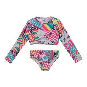 Biquini-infantil-Anime-camiseta-manga-longa-2a8-Q0272-