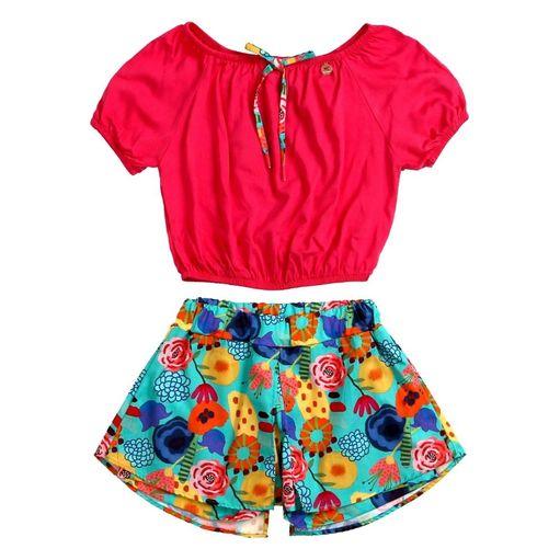 Conjunto-infantil-Precoce-ciganinha-shorts-floral-6a12-ICJ2295